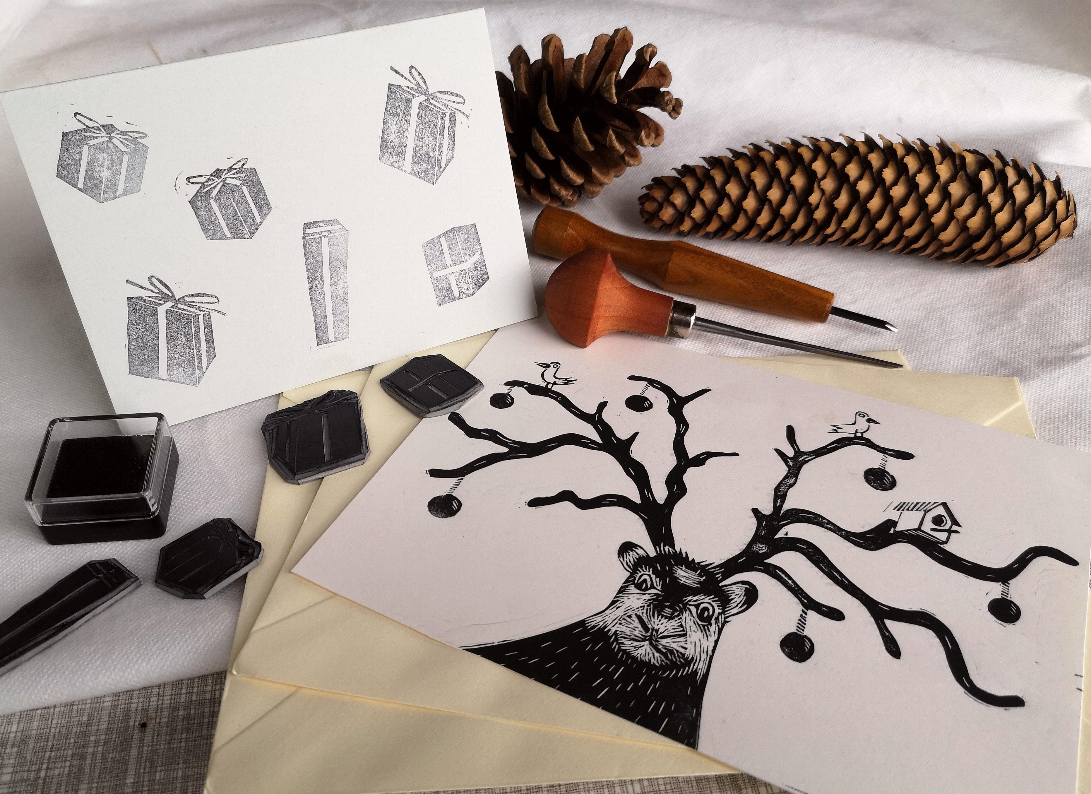 Printing Your Own Christmas Cards.Design And Print Your Own Christmas Cards And Gift Tags The Art Shack Shrewsbury